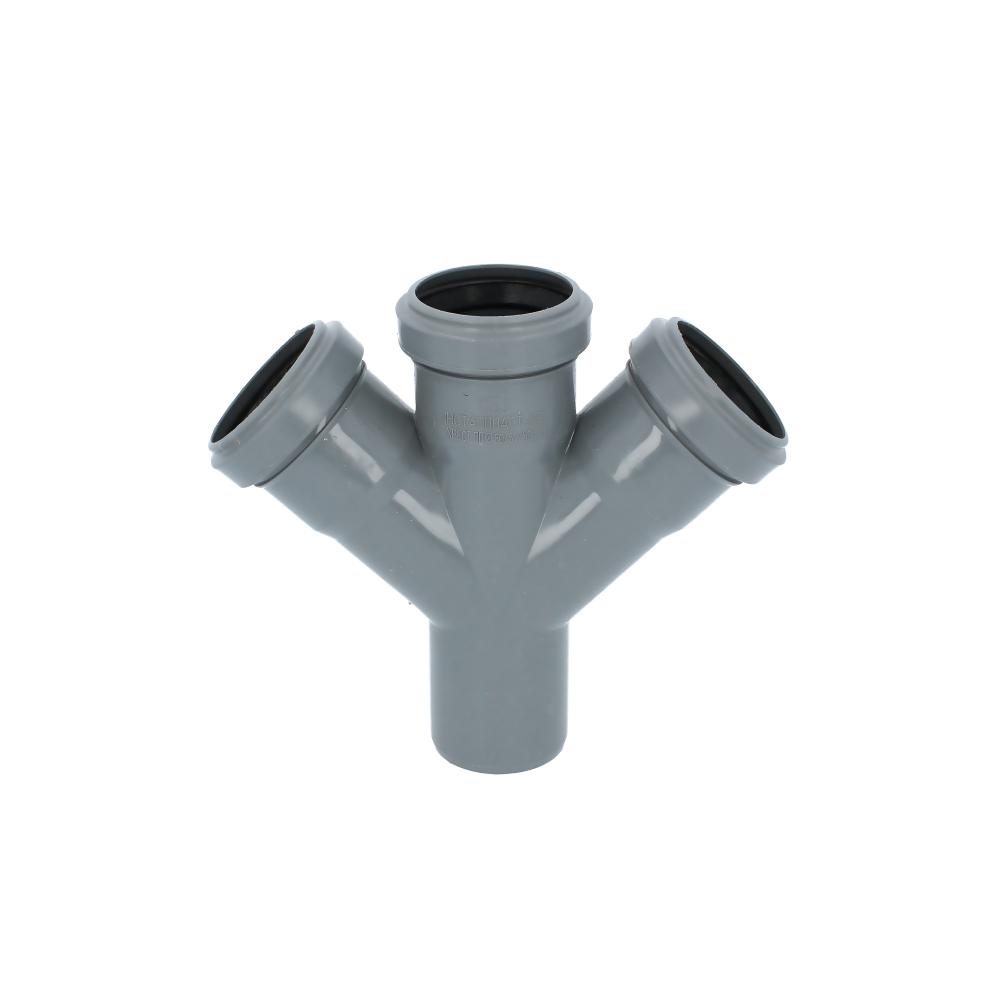 Czwórnik kanalizacyjny szary 50 mm 45 stopni