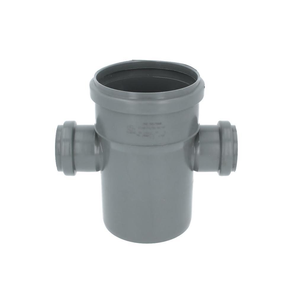 Czwórnik kanalizacyjny szary 110 mm x 50 mm x 50 mm 90 stopni