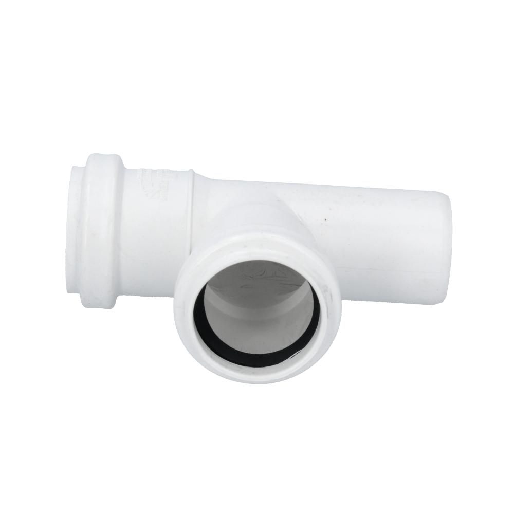 Trójnik kanalizacyjny biały 40 mm x 40 mm 90 stopni