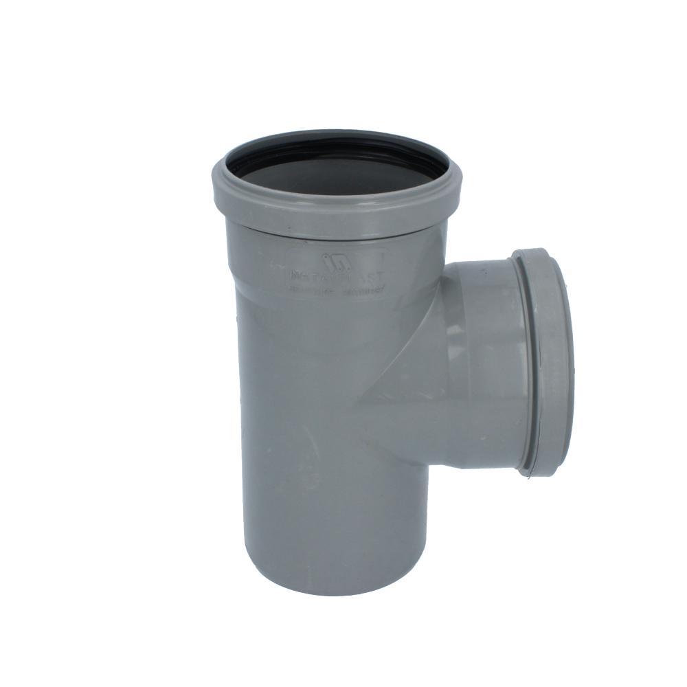 Trójnik kanalizacyjny szary 110 mm x 110 mm 90 stopni