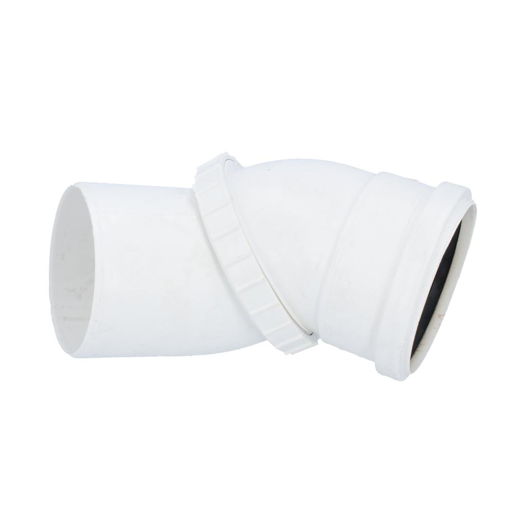 Kolano skrętne biały 110 mm