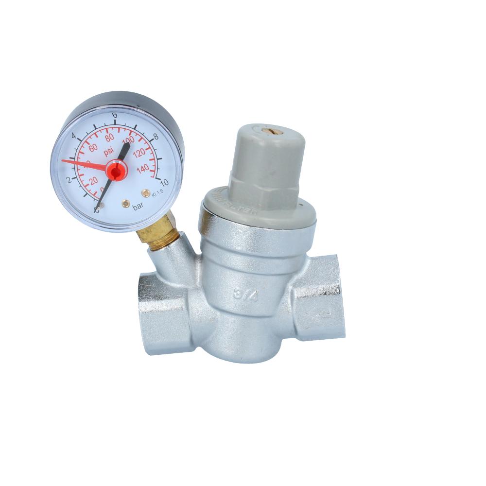 Reduktor ciśnienia wody z manometrem 3/4''