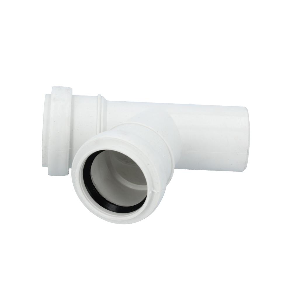 Trójnik kanalizacyjny biały 40 mm x 40 mm 67 stopni