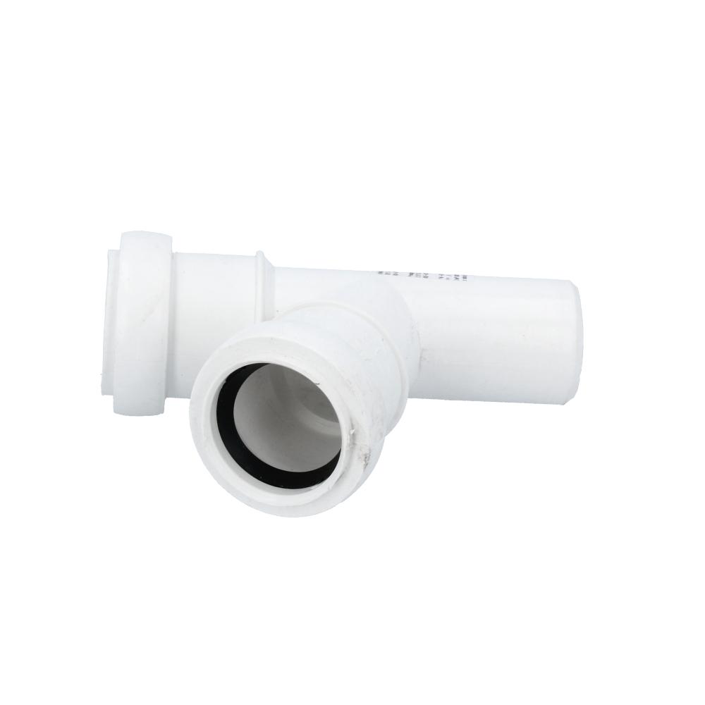 Trójnik kanalizacyjny biały 32 mm x 32 mm 67 stopni