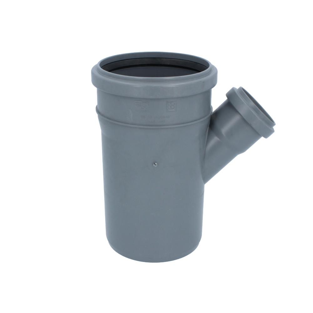 Trójnik kanalizacyjny szary 110 mm x 50 mm 45 stopni