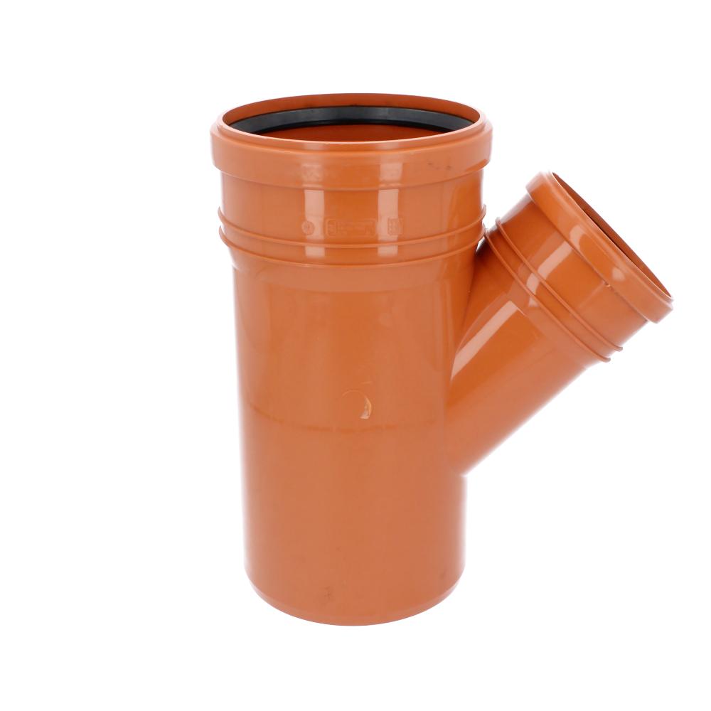Trójnik kanalizacyjny pomarańczowy 160 mm x 110 mm 45 stopni