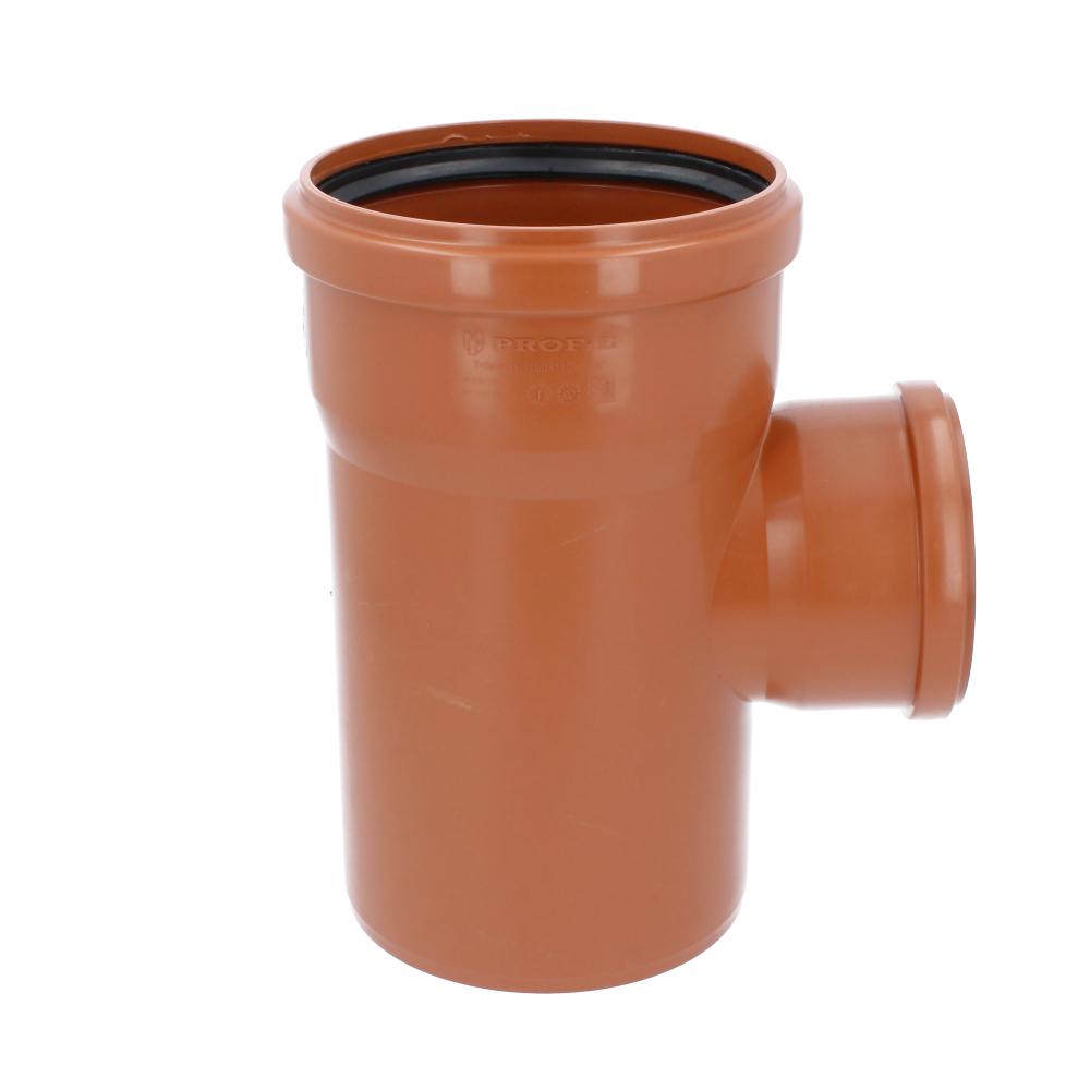 Trójnik kanalizacyjny pomarańczowy 160 mm x 110 mm 90 stopni