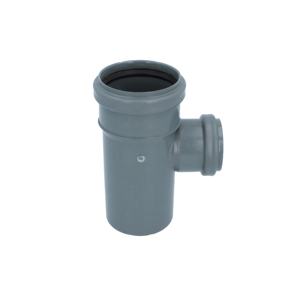 Trójnik kanalizacyjny szary 75 mm x 50 mm 90 stopni