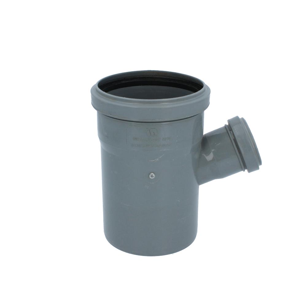 Trójnik kanalizacyjny szary 110 mm x 50 mm 67 stopni