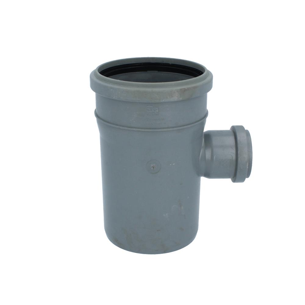 Trójnik kanalizacyjny szary 110 mm x 50 mm 90 stopni