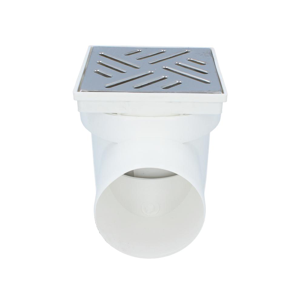 Kratka kanalizacyjna boczna metalowa z koszem 110 mm 150 mm x 150 mm
