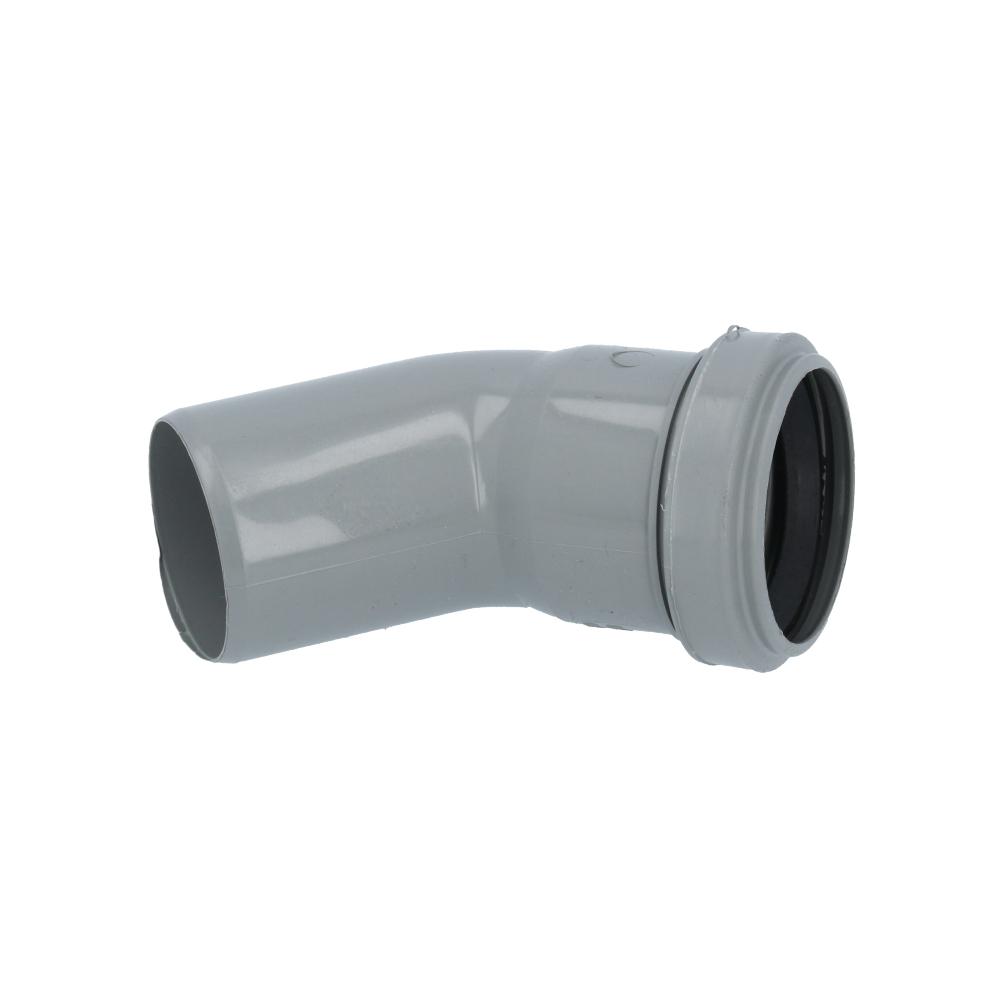Kolano kanalizacyjne szare 50 mm 45 stopni