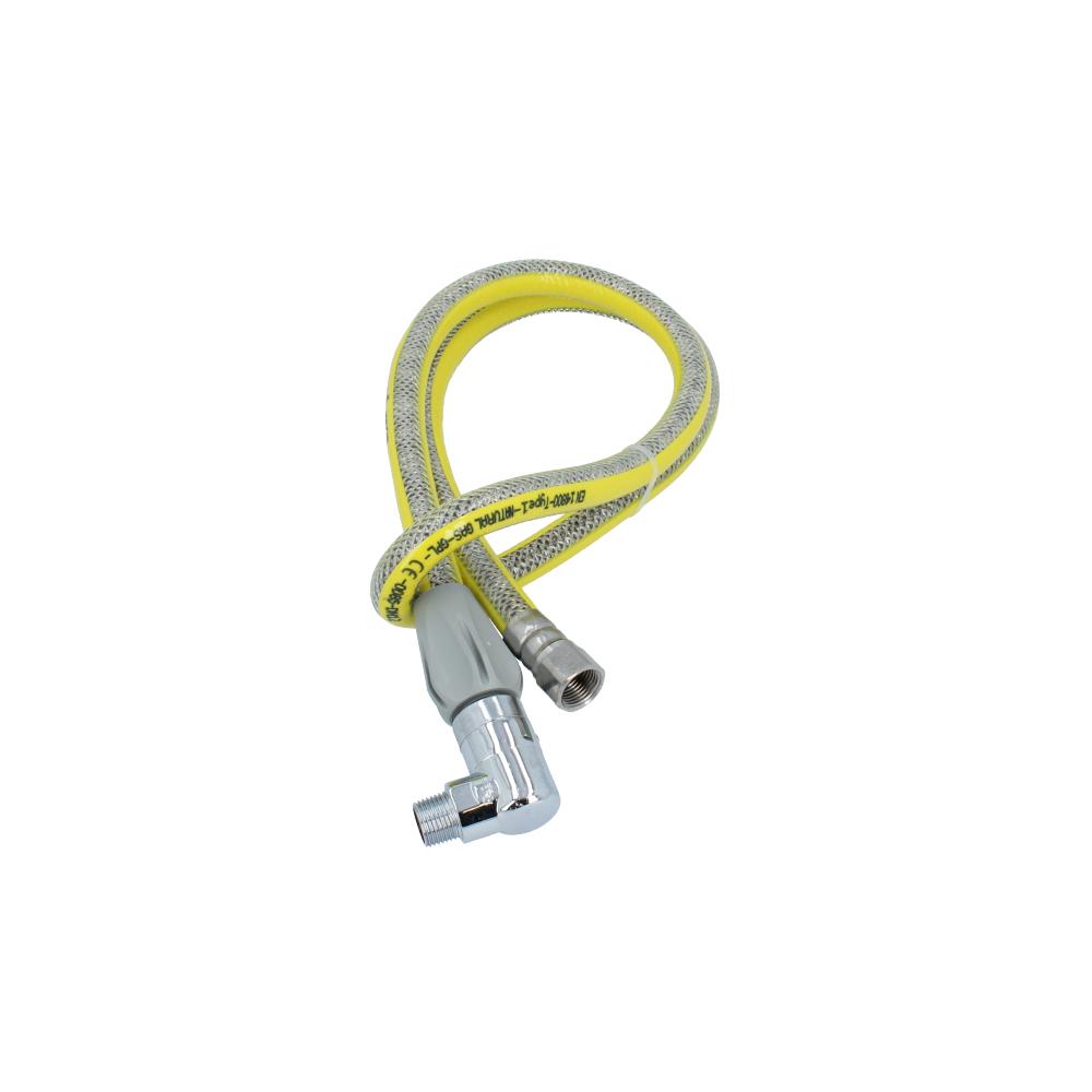 Wąż elastyczny do gazu z szybkozłączem 1500 mm 1/2'' GZ x 1/2'' GW