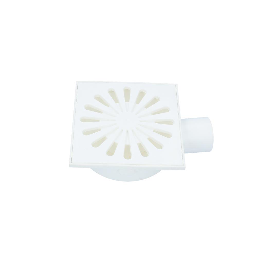 Kratka kanalizacyjna boczna plastikowa obrotowa 50 mm 150 mm x 150 mm