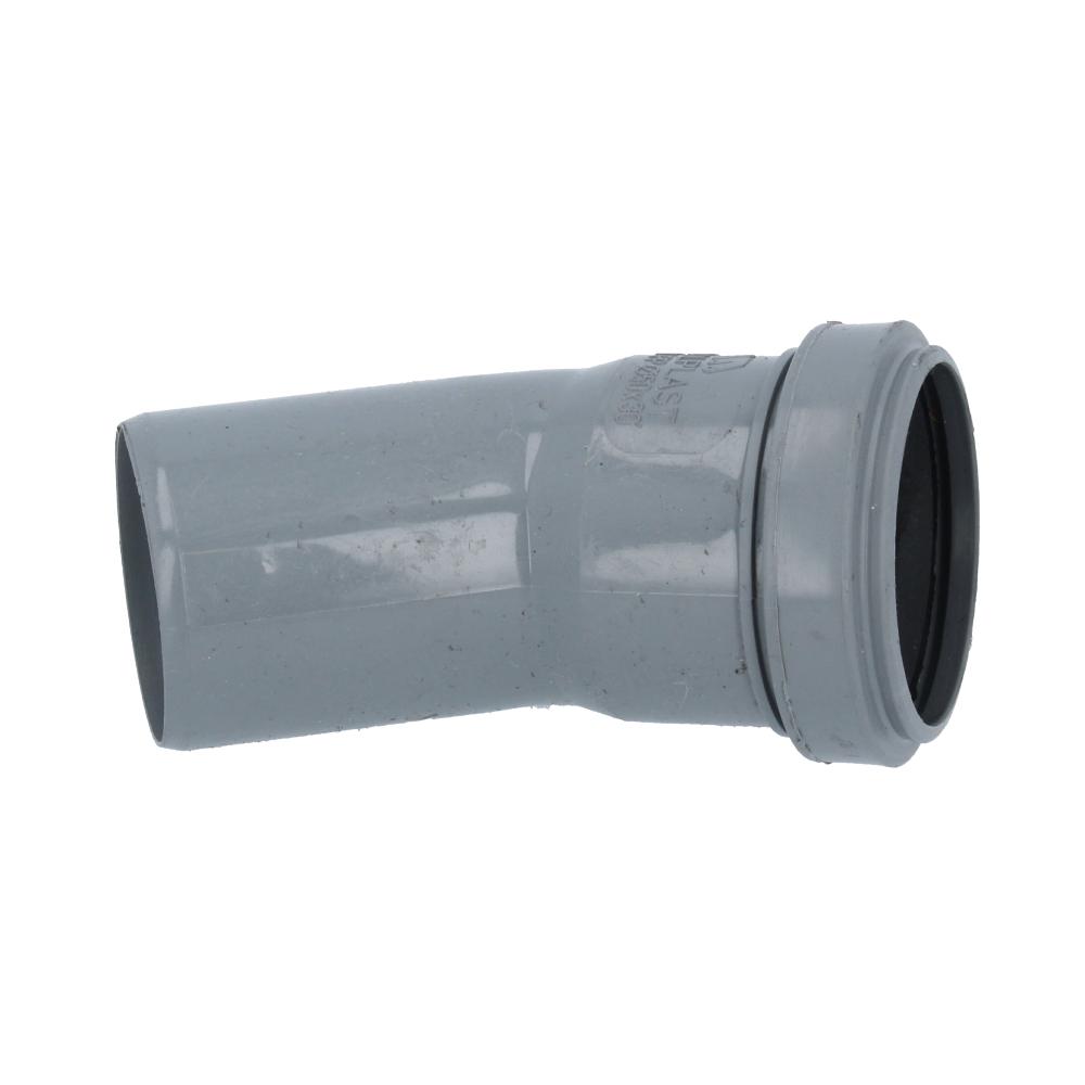 Kolano kanalizacyjne szare 50 mm 30 stopni