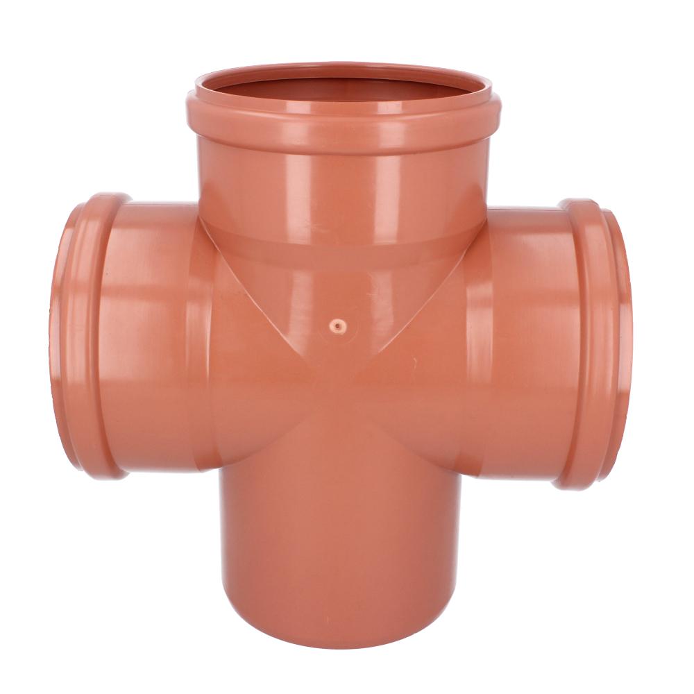 Czwórnik kanalizacyjny pomarańczowy 160 mm 90 stopni